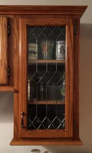 Expert kitchen cabinet stained-glass installation