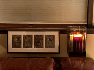 Photo of the piece in client living space